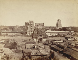 General view of the Ranganatha temple at Srirangam.